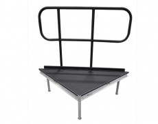 Non-Skid Quad Ripple Triangle Stage Deck w/ Guardrail