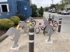 Custom Shark Bike Racks for the Starboard in Dewey Beach, DE