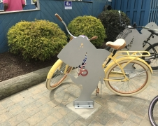Custom Shark Bike Racks for the Starboard in Dewey Beach, DE, 2018