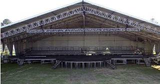 America's 400th Anniversary Weekend- Stage and roof system by Light Action
