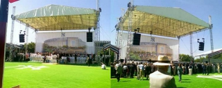 GroundbreakingCeremony for The New Yankee Stadium Project- Stage and roof system by Light Action