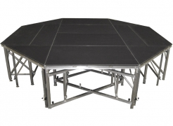 Custom Octagonal Stage- Octagon sub structure designed and built by Staging Dimensions, for JHE Production Group.