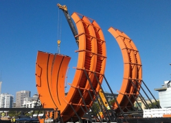 "60ft Custom Steel Loops ""Double Loop Dare"" for Hot Wheels 2012"