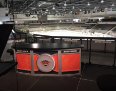 Custom Clear Acrylic Guardrail For RIT Sports Zone, 2016