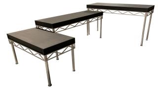 "DJ Table w/ 1/4"" Aluminum Custom Apron"