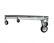 """4' x 8' @ 32""""H Rolling Riser on 10"""" Pneumatic Tires"""