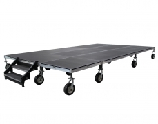 """12' x 20' @ 18""""H Rolling Stage on 10"""" Pneumatic Tires"""