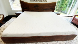 Walnut Live Edge Headboard with Floating Night Stands