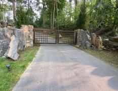 Electric Hydraulic Aluminum Double Entrance Gate