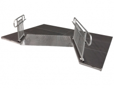 "60"" Wide x 4' Long ADA Ramp with 38""High Continuous Grab Rail"