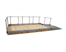4' Clear Plexi Guardrail attached to Stage