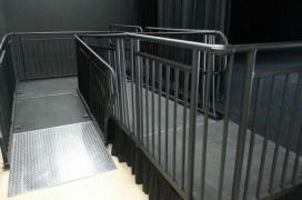 "4' Wide x 16' Long ""U"" ADA Ramp with 4' x 10' Mid & 4' x 5' Top Landing"