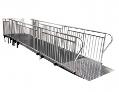 4' Wide x 24' Long Straight ADA Ramp with 5' x 5' Top Landing