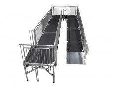 "4' Wide x 48' Long ""U"" ADA Ramp with 4' x 10' Mid & 5' x 5' Top Landing"