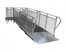 4' Wide x 16' Long Straight ADA Ramp with 4' x 6' Top Landing