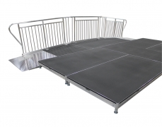 2 Each 4' Wide x 8' Long Straight ADA Ramps with 4' x 6' Center Top Landing