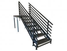 7 Step Adjustable Stair Unit w/ Custom Handrails