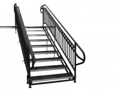 9 Step Adjustable Stair Unit w/ Custom Handrails