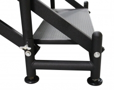 Adjustable Stair Base with Leveling Foot Pads - Side View