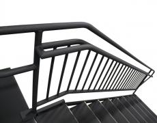 9 Step Adjustable Stair Unit Top View