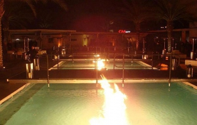 Pool Runway for 2009 Superbowl PartyBy AG Light