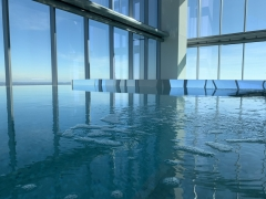 8' Wide x 17' Long Clear Acrylic Floating Pool Stage for 4 Seasons Hotel, Philadelphia, PA
