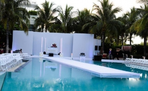 Fashion Show Runway  Over Pool By Rental Stages