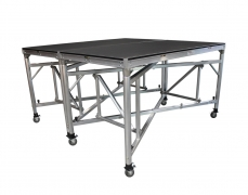 """8' x 8' @ 60""""H Rolling Riser on Wunderstructure w/ Caster Pots"""