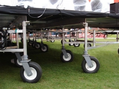 """Wunderstructure / I-Beam Rolling Support on 10"""" Pneumatic Foam Filled Tires - Orange Bowl Stage"""