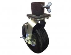 "10"" Pneumatic Tire & Single Caster Pot"