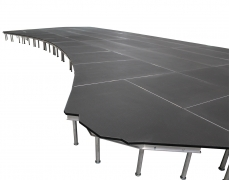 Curved Non-Skid Quad Ripple Stage