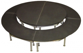 8' Diameter 2 Tier Haircell Poly Stage