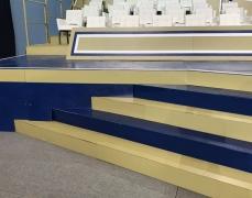 Custom Blue & Gold Closure Panels