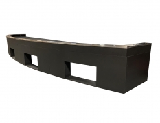 Free-Standing Curved Closure Panel w/ Sub-Woofer Cut Out