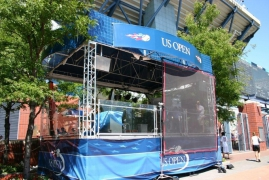 US Open Broadcast Booth
