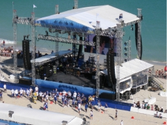 Main Stage for Celebrity Beach Bowl 2010 By Light Action