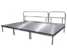 Grated Aluminum Stage w/ Custom Guardrail