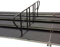 """4 Tiered Risers with """"Thru-Deck"""" Guardrail"""