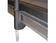 Guardrail Clamp Installed w/ All Thread Handle