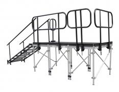 Stage w/ Standard Steel Guardrail