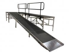 4' Wide x 22' Long Straight Equipment Ramp