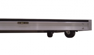 "4"" Locking Caster Installed on Underside of Deck"