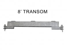 8' TRANSOM (w/ tabs)