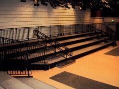 4 Tiered Riser with ADA Guardrail and Handrails