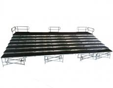 7 Tiered  48' x 28'  Riser with Standard Guardrail