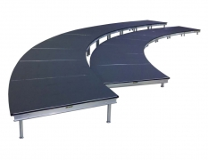 2 Tiered Curved Black Flame Retardant Riser