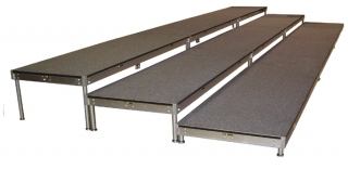 3 Tiered Gray Carpeted Riser