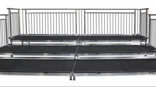 3 Tiered Riser with ADA Guardrail