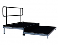 2 Tiered Riser with Standard Guardrail