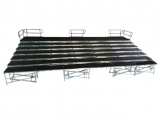 7 Tiered  48' x 28'  Riser with Standard Guardrail